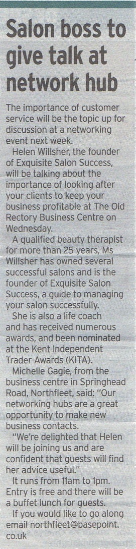 Helen Willsher, Exquisite Salon Success, press coverage